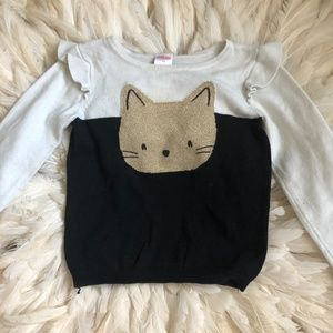 Gymboree Toddler Girls 4T Gold Cat Sweater